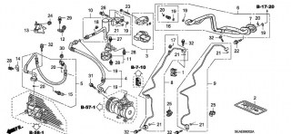 Conducte aer conditionat Honda Accord VIII  motor diesel(vezi schita)